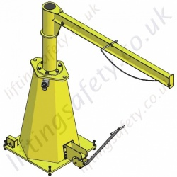 Vetter Portable Pillar Jib Crane with Max Reach 5000mm - Range from 125kg to 500kg