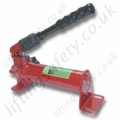 LiftingSafety Heavy Duty 700 Bar Hydraulic Hand Pump. 1 or 2 Stage Options. Reservoir volume 350cc to 700cc (6 Options)