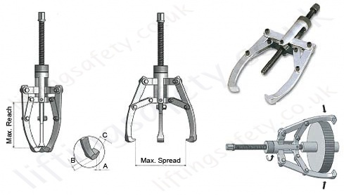 mechanical claw easy puller specs