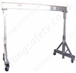 Aluminium T Frame Mobile Lifting Gantry 500kg 1000kg