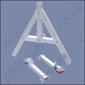 a frame adjustable gantry dismantled