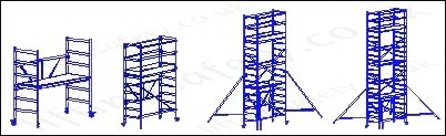 folding scaffold tower configuration options