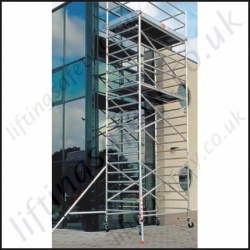 High Quality Aluminium Scaffold Tower with Folding Base - 12.2m Max Platform Height