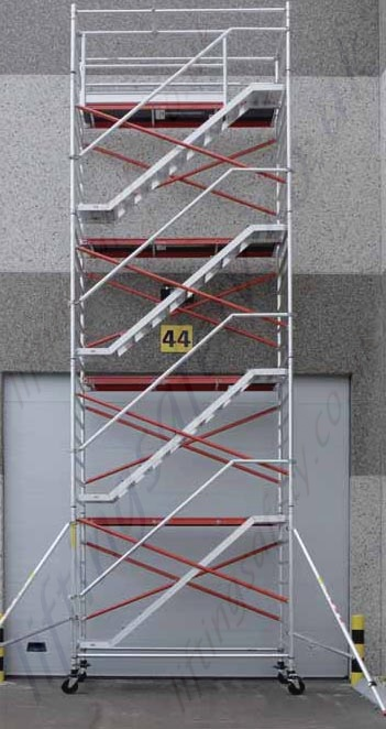 Indoor Scaffolding Max Height : High quality stairway scaffold tower m max working