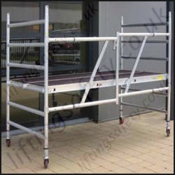 Highest Quality Double Width Folding Tower - 13.8m Maximum Working Height