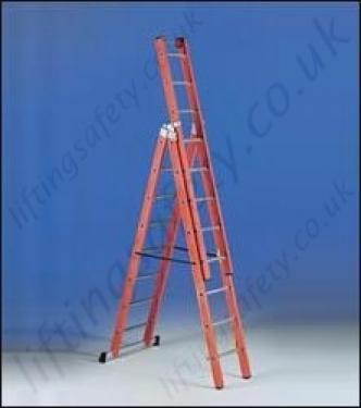 3 Section Fibreglass Ladder - 7 5m Maximum Working Height
