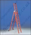 3 Section Fibreglass Ladder - 7.5m Maximum Working Height