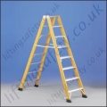 Double Sided Fibreglass Stepladder Tested to 100,000 Volts