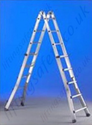 Multi Use Aluminium Telescopic Ladders - Maximum Height of 6.25m