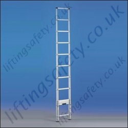Telescopic Aluminium Ladder - Height Range 0.80m to 3.80m