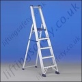 Heavy Duty Professional Telescopic Aluminium Ladder Platform and Guardrail - Maximum Height of 3.41m