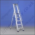 Professional Use Single Sided Stepladder with Handrail and Guardrail Tool Tray - Maximum Height of 3.41m