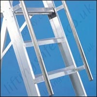 folding stepladder safe access