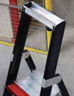 stepladder integrated tool tray