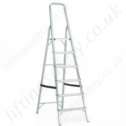 Professional Heavy Duty Telescopic Stepladder with Platform and Handrail