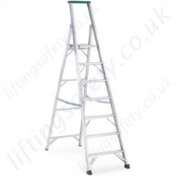 Professional Heavy Duty Aluminium Stepladder with Top Tool Tray