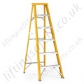 Single Sided Fibreglass Stepladder GS Approved Surrated Aluminium Treads
