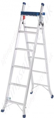 aluminium stepladder and extension and stairwell ladder