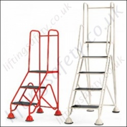 Mobile Easy Glide Standard/GS Approved Work Platform Optional Handrail  2-5 Steps