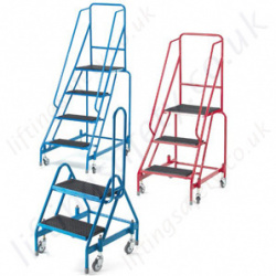 Mobile Steps GS Approved/Standard Work Platform & Handrail Tubular Steel Construction  2-5 Steps