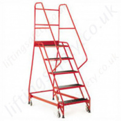 Mobile Steps High Strength Extra Wide Steps Handrail 3-5 Steps