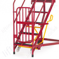 heavy duty mobile steps with optional gate