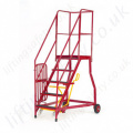 Heavy Duty Mobile Steps GS Standard Choice of Treads Optional Security Gate 3-15 Steps