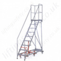 Mobile Steps 6-Wheels For Manouverability with Working Platform and Many Safety Features