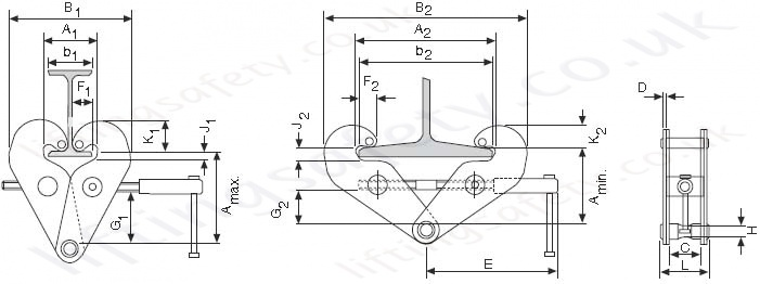 Yale Yc Standard Beam Clamps Range From 1000kg To 10