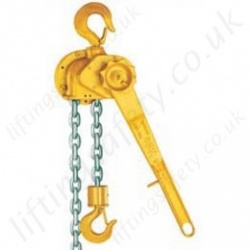 "Yale ""D85"" Malleable Iron (Cast Iron) Ratchet Lever Hoist  - Pull Lift Range from 750kg to 10,000kg"