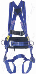 Miller Titan 2 Point Fall Arrest  Work Positioning Harness with Rear 'D' & Front Webbing Loops and Work Positioning