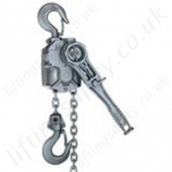 "Yale ""AL"" Ratchet Lever Hoist. Lightweight Aluminium Body - Pull Lift range from 750kg to 3000kg"