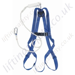 Titan Economy Fall Arrest Kit with Single Point Harness and Separate 2m Fall Arrest Lanyard and Small Carry Case