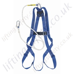 "Titan Economy ""Restraint"" Height Safety Kit with 1 Point Harness and 2m Restraint Lanyard with Karibiners."
