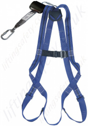"Titan Economy ""Construction Kit"" with 1 Point Harness and Basic 2 Metre Webbing Fall Arrest Inertia Reel."