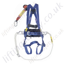 "Titan Economy ""Work Positioning"" Fall Arrest Kit with 1 Point Harness, Pole Strap and Basic 2 Metre Webbing Fall Arrest Inertia Reel."