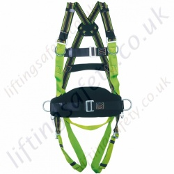 Miller MA58 Duraflex 2 Point, Fall Arrest Harness with 1 x rear 'D' Ring and 2 x Front chest D' Rings and Work Positioning Belt