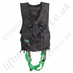 Miller Duraflex 2 Point Black Fall Arrest Vest Harness with Rear 'D' Ring & Front Webbing Loops