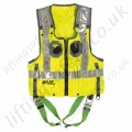 Miller Duraflex 2 Point Yellow Hi-Vis Vest Fall Arrest Harness with Rear 'D' Ring & Front Webbing Loops