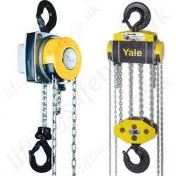 "Yale ""YaleLift 360"" Hand Chain Hoist, Top Hook Suspended - Range from 500kg to 20,000kg"
