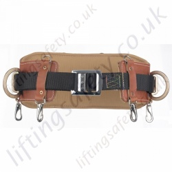 Miller 525 Heavy Duty Leather Work Positioning Belt For Use With Pole strap & Restraint lanyard with 2 x Side 'D' Rings.