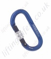 Miller Alloy Double Action Screwgate Karabiner. Breaking Strength: > 2200 daN. (Pack x 10). H 106mm x W 56mm x 11mm Thick. Gate Opening 16mm