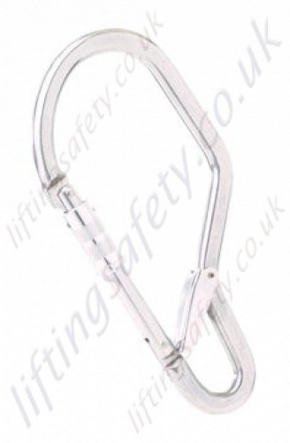 Miller GO60 Light Alloy Double Action Screwgate Captive Scaffold Hook Karabiner 62mm Gate Opening