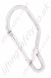 "Miller ""GO60"" Light Alloy Double Action Screwgate Captive Scaffold Hook Karabiner. Breaking Strength 2200 daN. H 238mm x W 113mm x 14mm Thick - Gate 62mm"