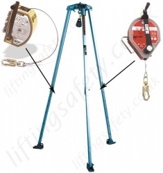 "Miller ""MN10"" Portable Lightweight Aluminium Tripod for Man-Riding, Fall Arrest and Rescue Applications."