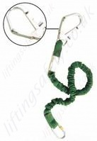 Miller 1.5 or 2 metre elasticated lanyard (manyard). scaffold hook (63mm) and karabiner
