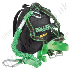 "Miller ""Kit 11"" Construction Fall Arrest Kit with 1Pt or 2Pt Harness and 2m Fall Arrest Manyard / Lanyard with Back pack"