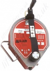 "Miller ""MightEvac"" Fall Arrest Retriever, Inertia Reel Rescue Block with Retrieval Handle. Galvanised/Stainless Cable - 15, 30 and 40m"