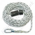 "Miller ""Anchorage Line"" 14mm Twisted Polyamide Rope. Terminations, Karabiner & Rubber Weight - 14mm Dia x 10m, 20, 30, 40 & 50 M"