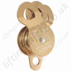 Miller Twin Sheave Aluminium Rescue Pulley for Synthetic Rope to Maximum Diameter 12.7mm Rope